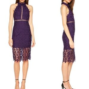 NWT Bardot Gemma lace dress purple